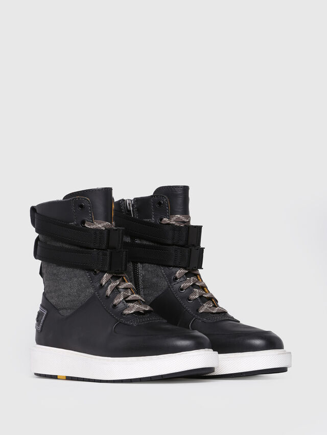 Diesel - H-CAGE HIGH ST, Black Leather - Boots - Image 2