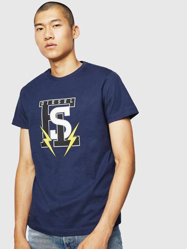 Diesel - T-DIEGO-B3, Blue - T-Shirts - Image 1