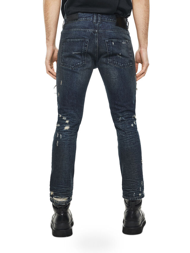 eb223408c6 TYPE-2813D Men  Slim jeans with contrasting patchwork