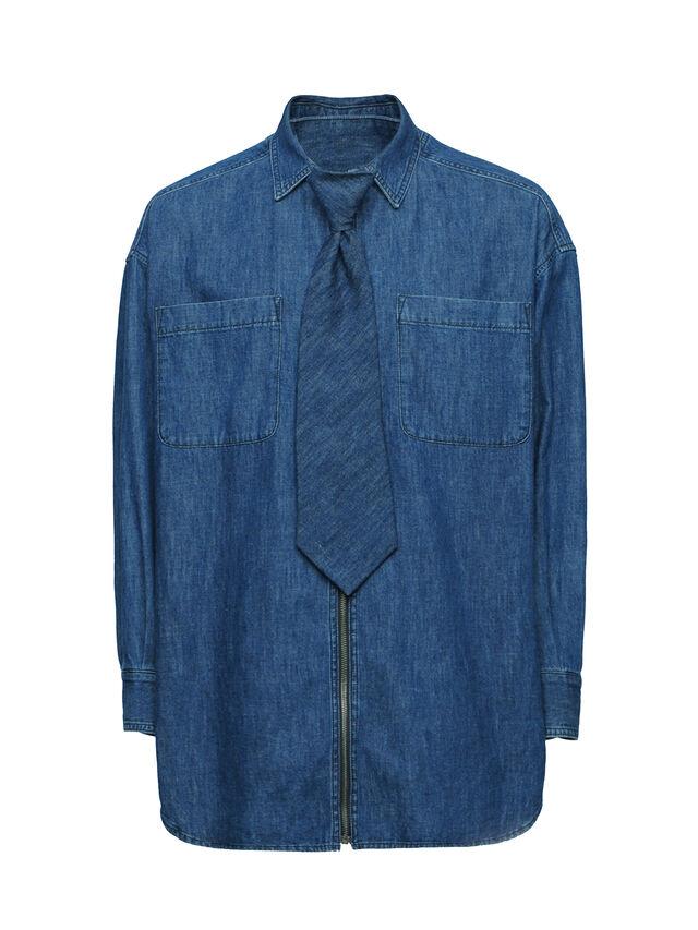 Diesel - SOTS01, Dark Blue - Shirts - Image 1