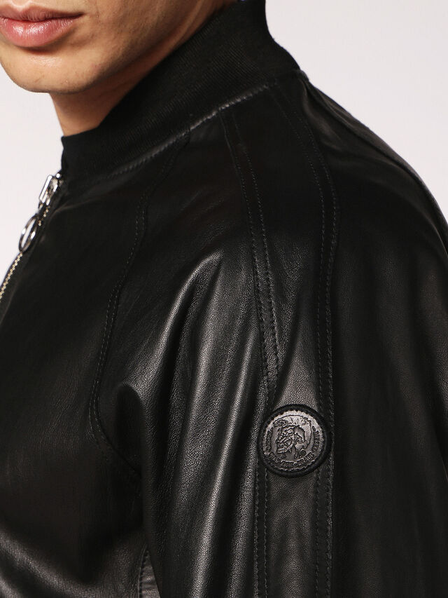 Diesel - L-PINS, Black Leather - Leather jackets - Image 5