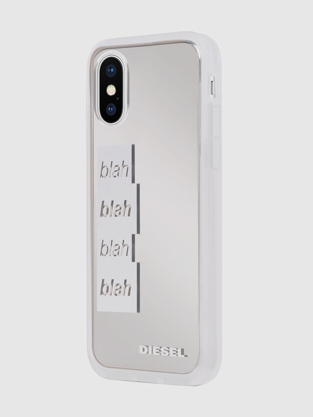 Diesel - BLAH BLAH BLAH IPHONE X CASE, White/Silver - Cases - Image 6
