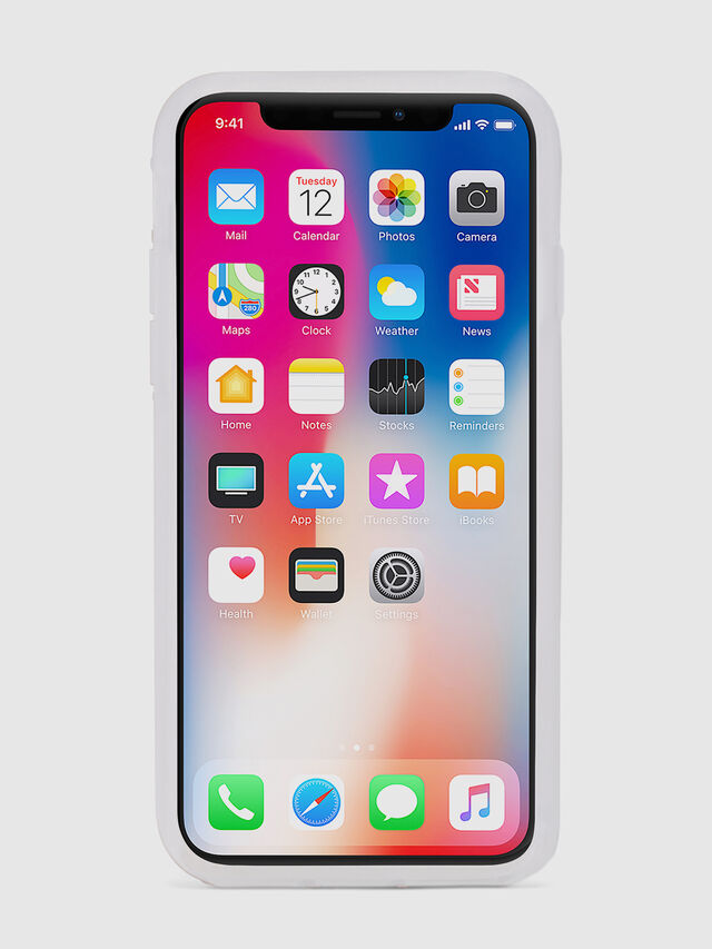 Diesel - BLAH BLAH BLAH IPHONE X CASE, White/Silver - Cases - Image 4