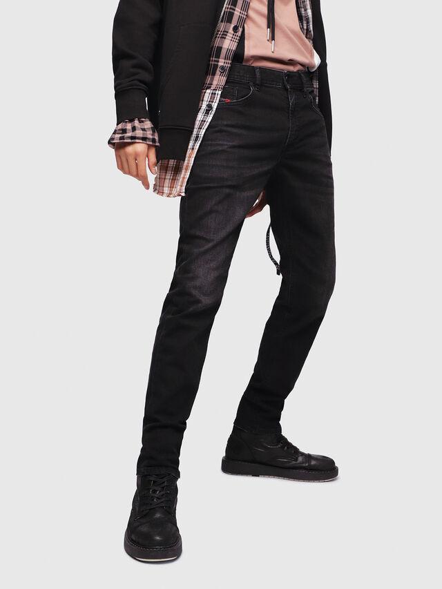 f589b4bdd4d THOMMER 069BG Men  Slim Black Dark grey Jeans