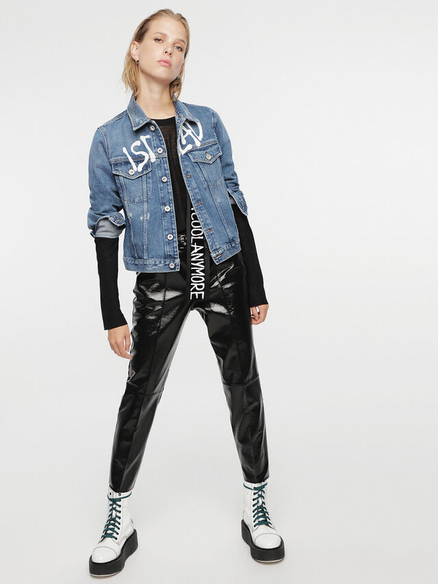 Diesel - HC-DE-VELVET, Blue Jeans - Denim Jackets - Image 4