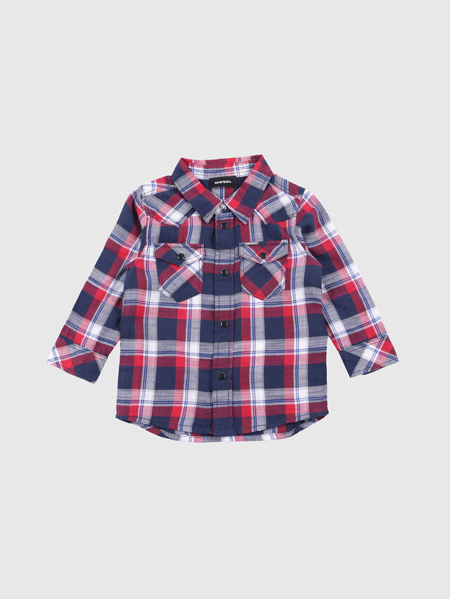 Diesel - CLENEB, Blue/Red - Shirts - Image 1