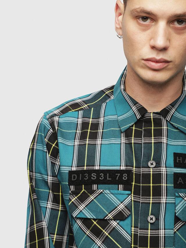 Diesel - S-TAKESHI, Blue/Green - Shirts - Image 3