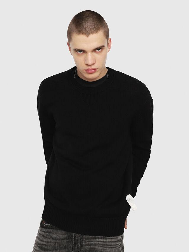 Diesel - K-MELT, Black - Sweaters - Image 1