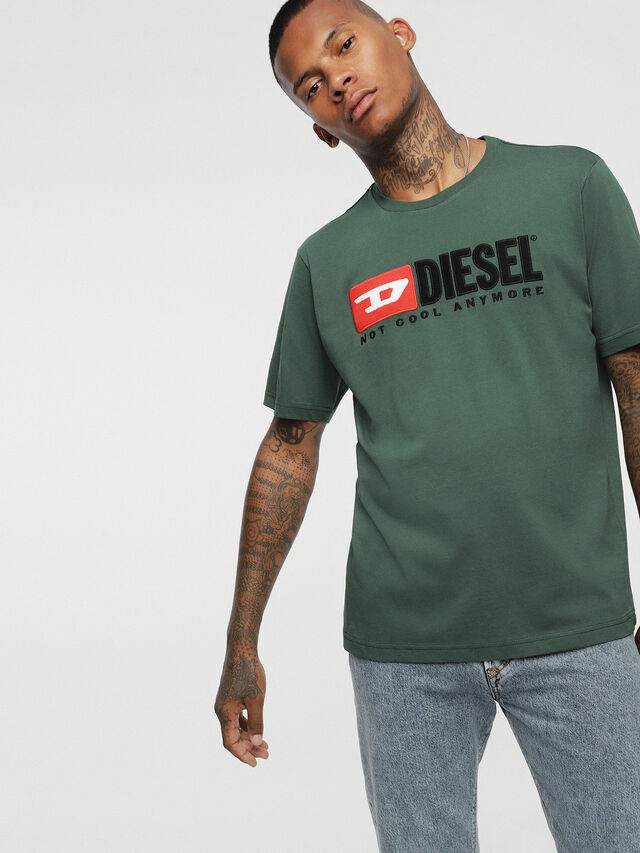 Diesel - HC-T-JUST-DIVISION, Bottle Green - T-Shirts - Image 2