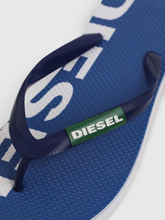 Diesel - SA-BRIIAN, Blue/White - Slippers - Image 3