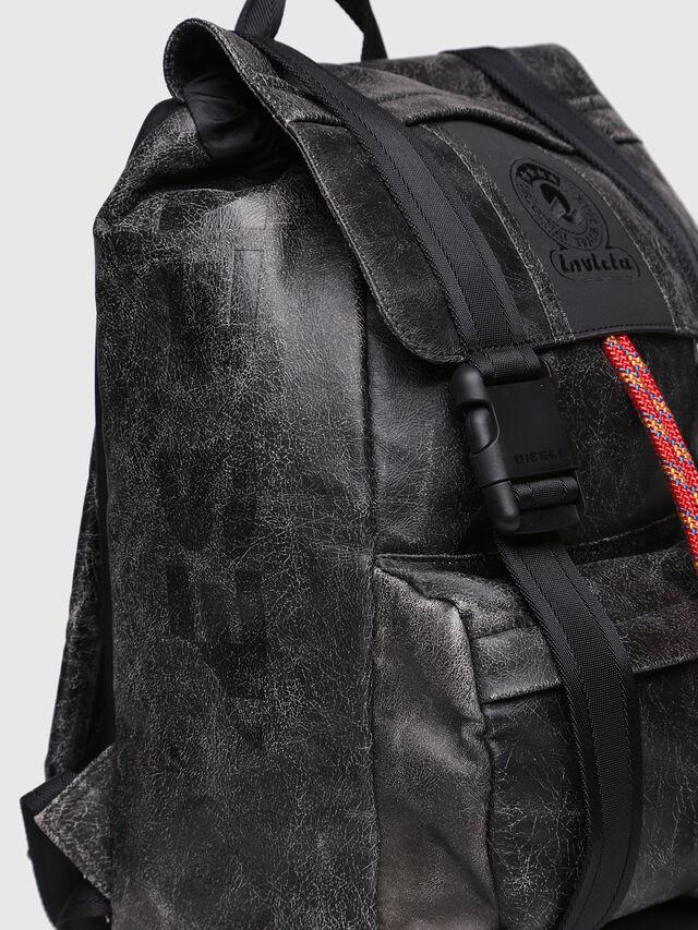Diesel - M-INVICOLAB BACK IV, Black Leather - Backpacks - Image 3