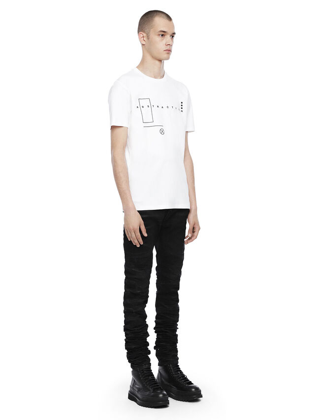 Diesel - TY-ABSTRACTION, White - T-Shirts - Image 4