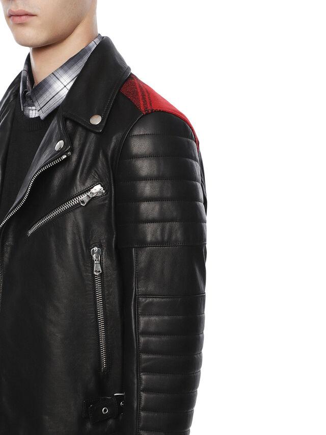 Diesel - LOCHECK, Black - Leather jackets - Image 6