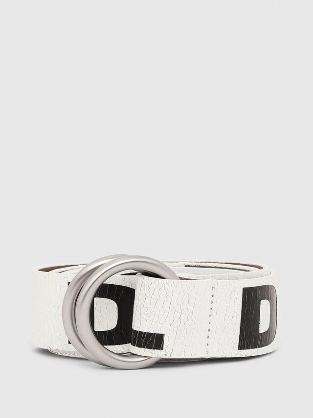 Diesel - B-LETTER, White/Black - Belts - Image 1