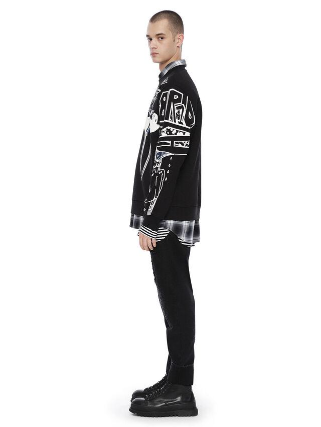 Diesel - SNEILB-GRAFFITI, Black - Sweatshirts - Image 4