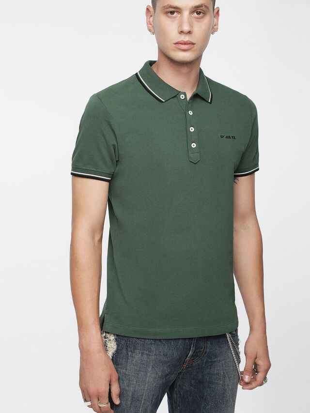 Diesel - T-RANDY-BROKEN, Military Green - Polos - Image 1