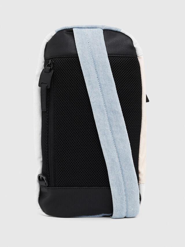 Diesel - D-SUBTORYAL MONO, White/Blue - Backpacks - Image 2