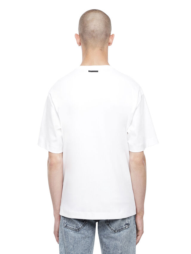Diesel - TEORIAL-M5, White - T-Shirts - Image 2