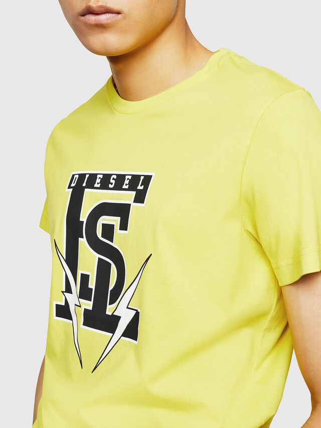 Diesel - T-DIEGO-B3, Yellow - T-Shirts - Image 3