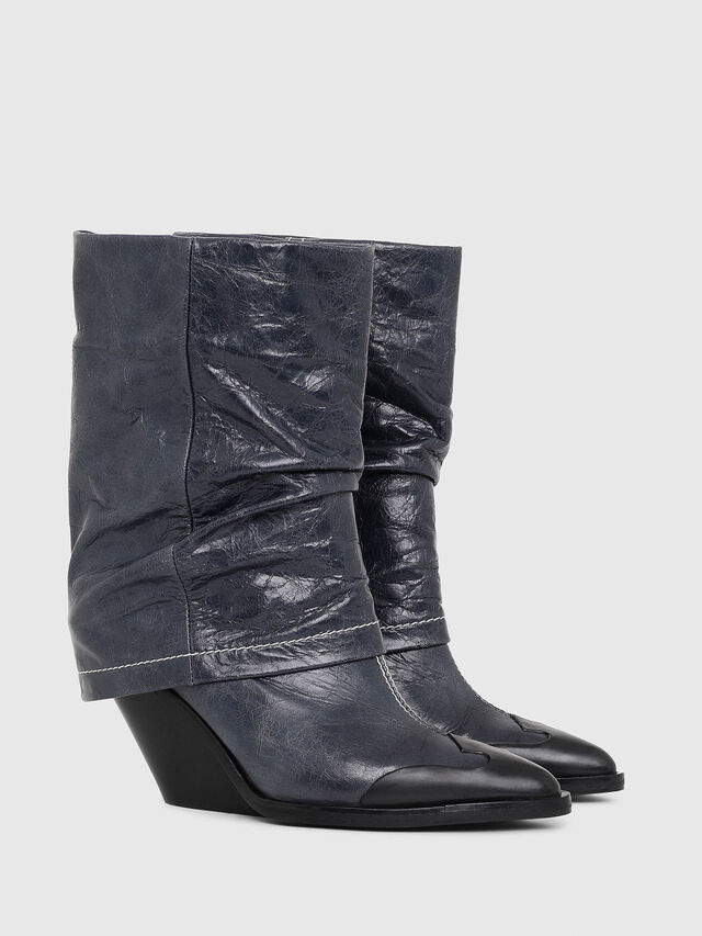 Diesel - D-WEST MB, Blue - Ankle Boots - Image 2