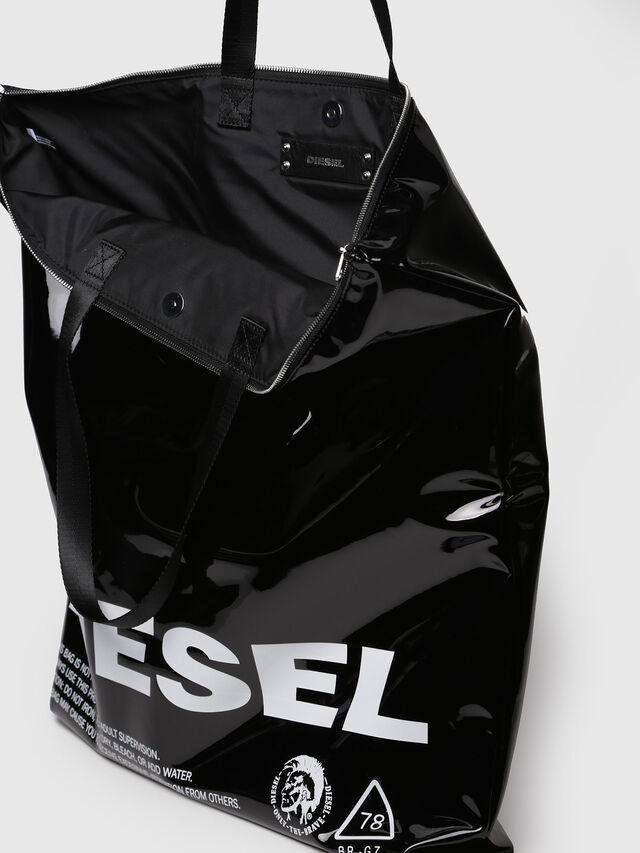 Diesel - F-LITT SHOPPER EW, Bright Black - Clutches - Image 3
