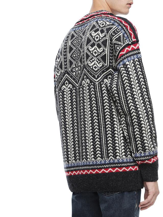 Diesel - KETLAND, Black/White - Sweaters - Image 3