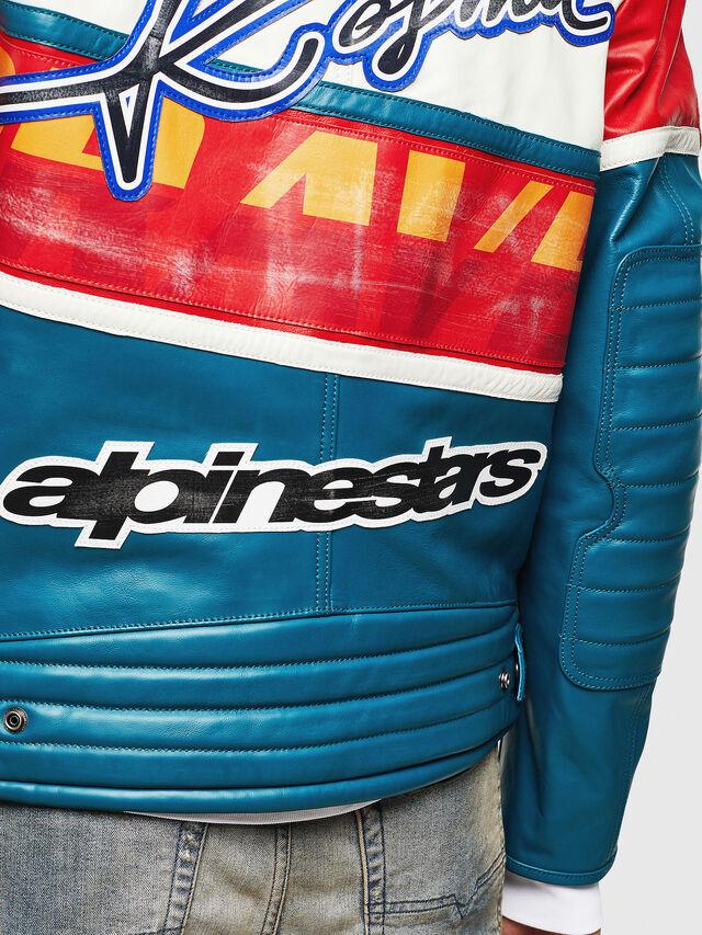 Diesel - ASTARS-LPATCH-1B, Blue - Leather jackets - Image 5