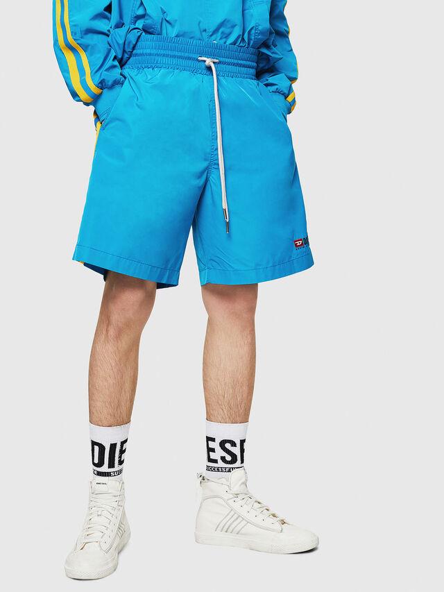 Diesel - P-BOXIE, Azure - Shorts - Image 1