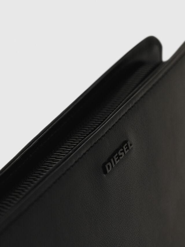 Diesel - NEW GRANATO LOOP, Black - Zip-Round Wallets - Image 5