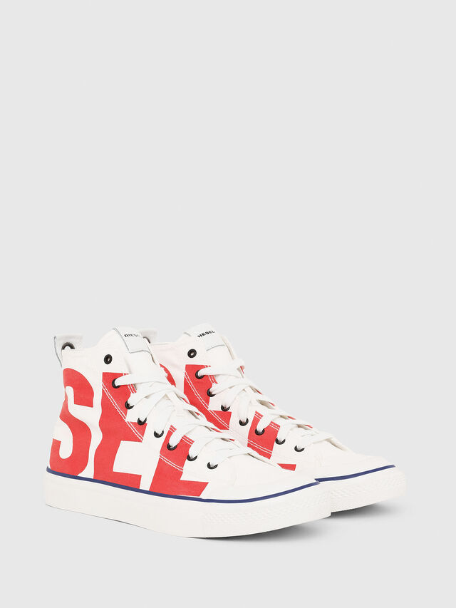 Diesel - S-ASTICO MC, White/Red - Sneakers - Image 2