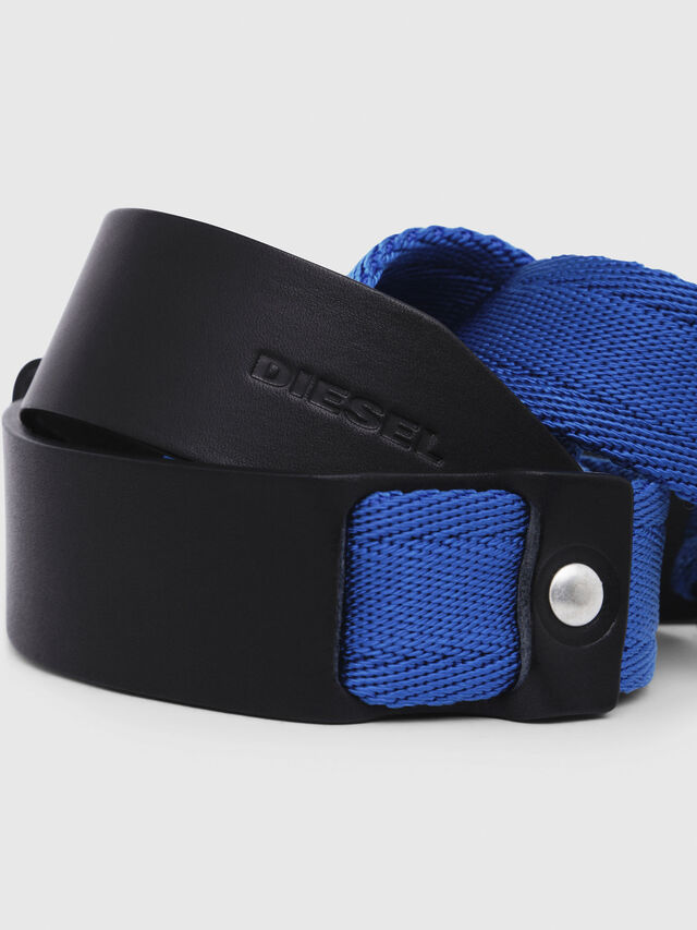 Diesel - B-BOSCO, Black/Blue - Belts - Image 2