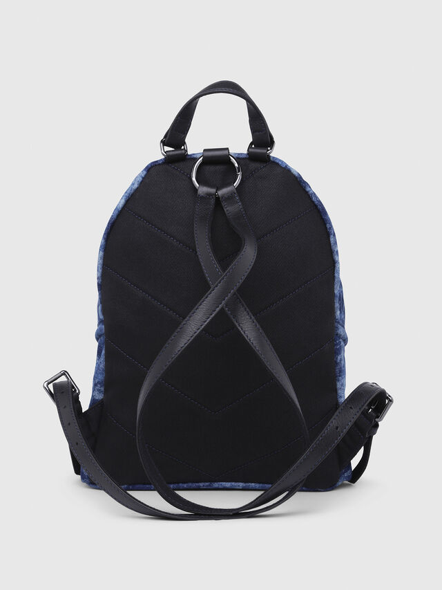 Diesel - LE-ZIPPER BACKPACK, Blue/White - Backpacks - Image 2