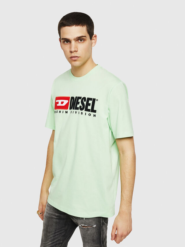 Diesel - T-JUST-DIVISION, Green Fluo - T-Shirts - Image 1
