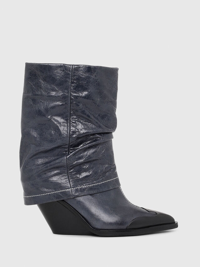 Diesel - D-WEST MB, Blue - Ankle Boots - Image 1