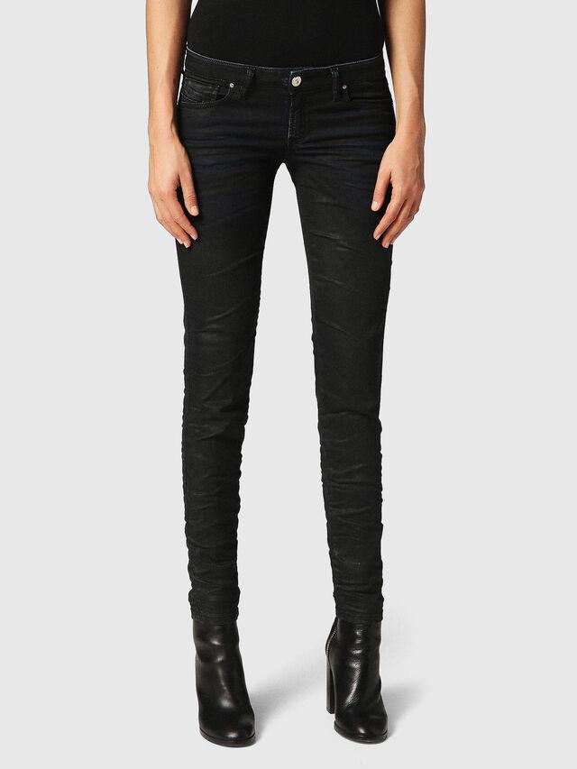 Diesel - Gracey JoggJeans 0688U, Black/Dark Grey - Jeans - Image 2