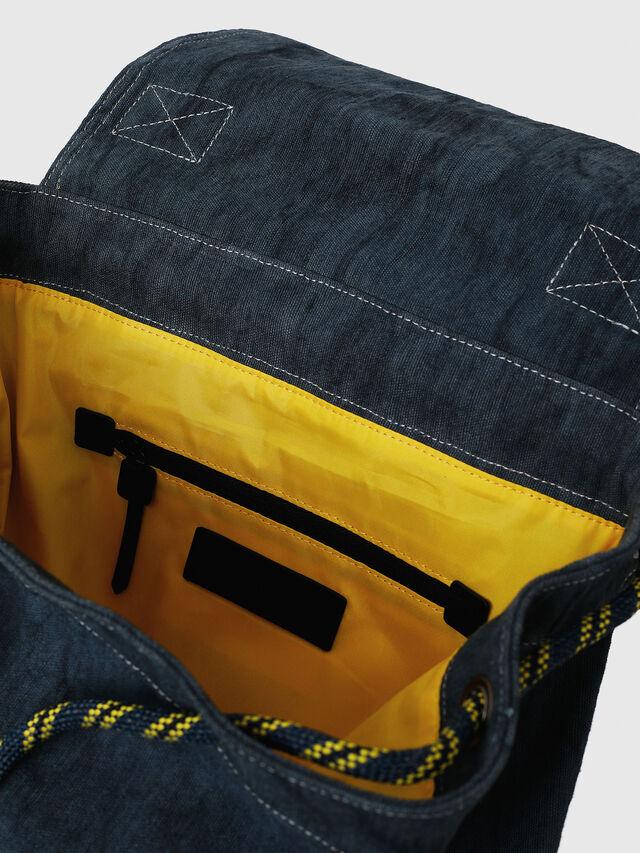 Diesel - VOLPAGO BACK, Blue Jeans - Backpacks - Image 3