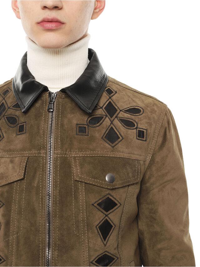 Diesel - LYRICH, Green/Black - Leather jackets - Image 4