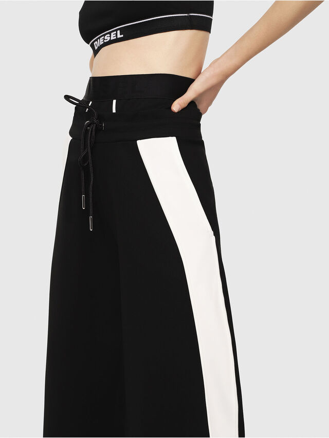 Diesel - P-ARIA, Black/White - Pants - Image 3