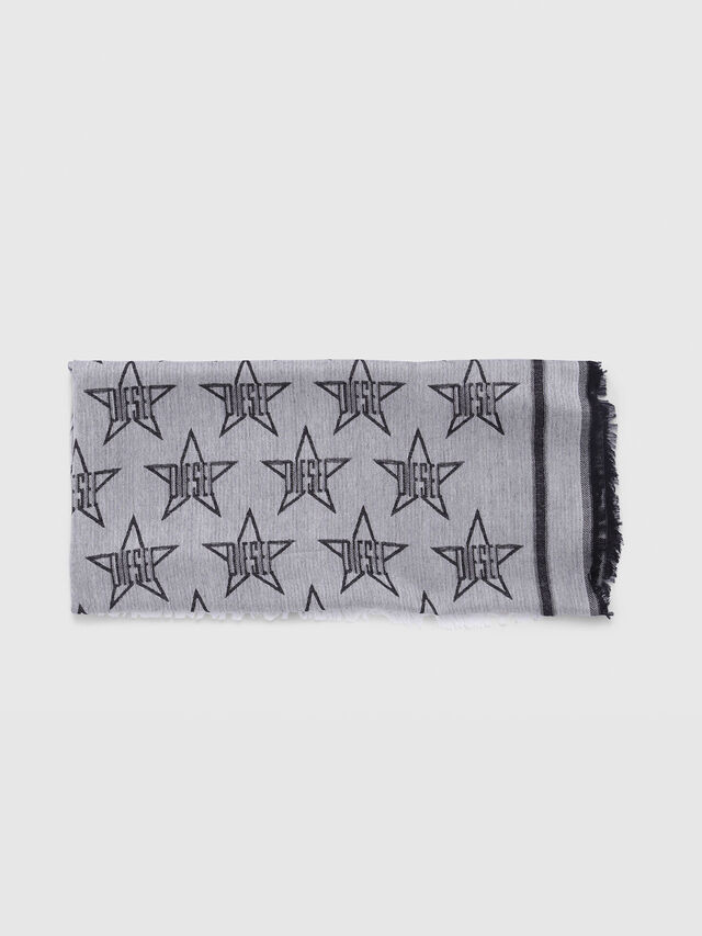Diesel - S-STAR, Gray/Black - Scarves - Image 1
