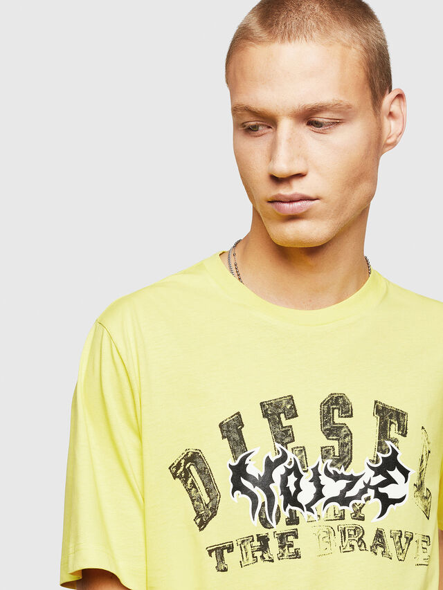 Diesel - T-JUST-B25, Yellow - T-Shirts - Image 3