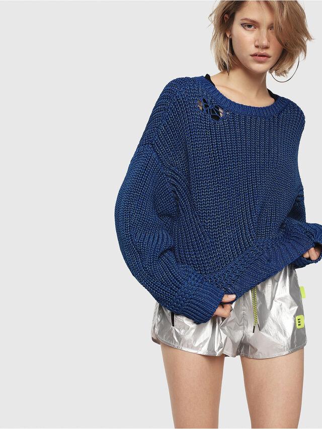 Diesel - M-BABI, Brilliant Blue - Sweaters - Image 1