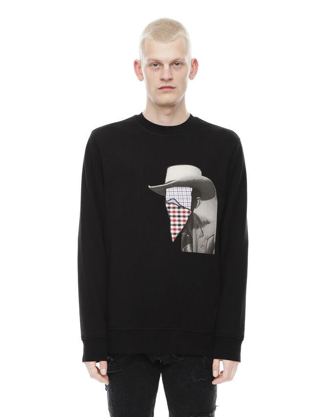 Diesel - SNEILB-PEZZABOY, Black - Sweatshirts - Image 1