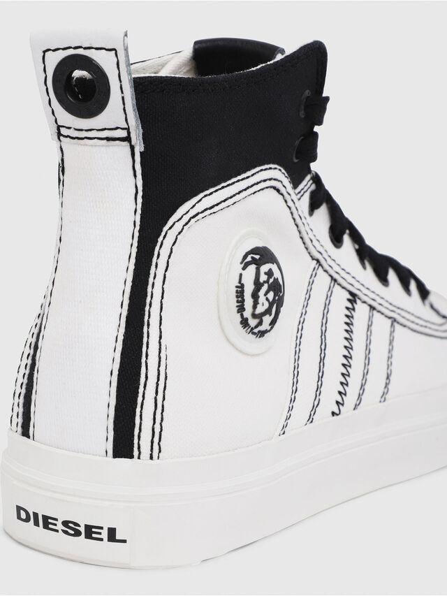 Diesel - S-ASTICO MID LACE, White/Black - Sneakers - Image 4