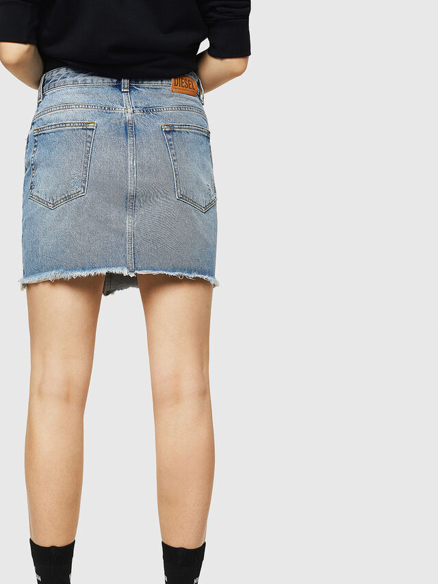 Diesel - DE-ELLE, Blue Jeans - Skirts - Image 2