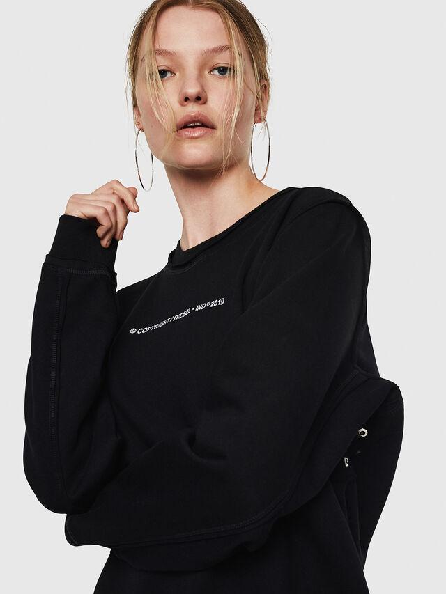 Diesel - F-LYANY-F, Black - Sweatshirts - Image 3
