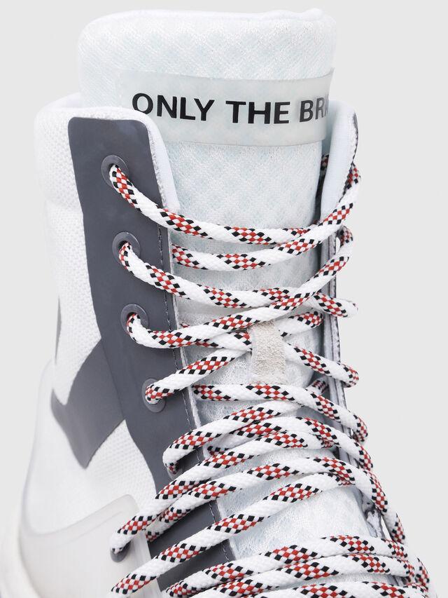 Diesel - S-KIPPER MID LACE, White - Sneakers - Image 4