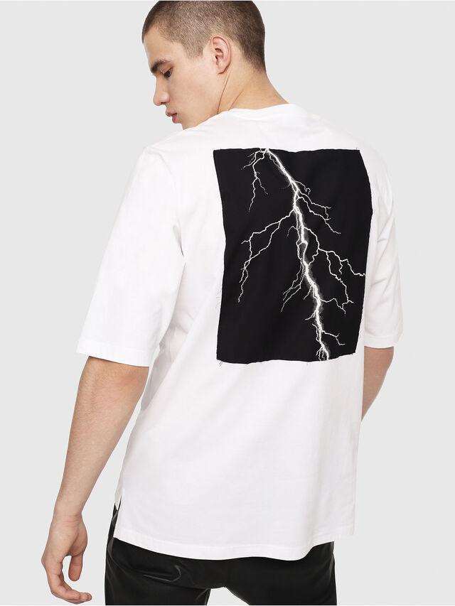 Diesel - T-YOSHIMI, Blanc/Rose - T-Shirts - Image 2