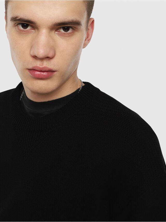 Diesel - K-MELT, Black - Sweaters - Image 3
