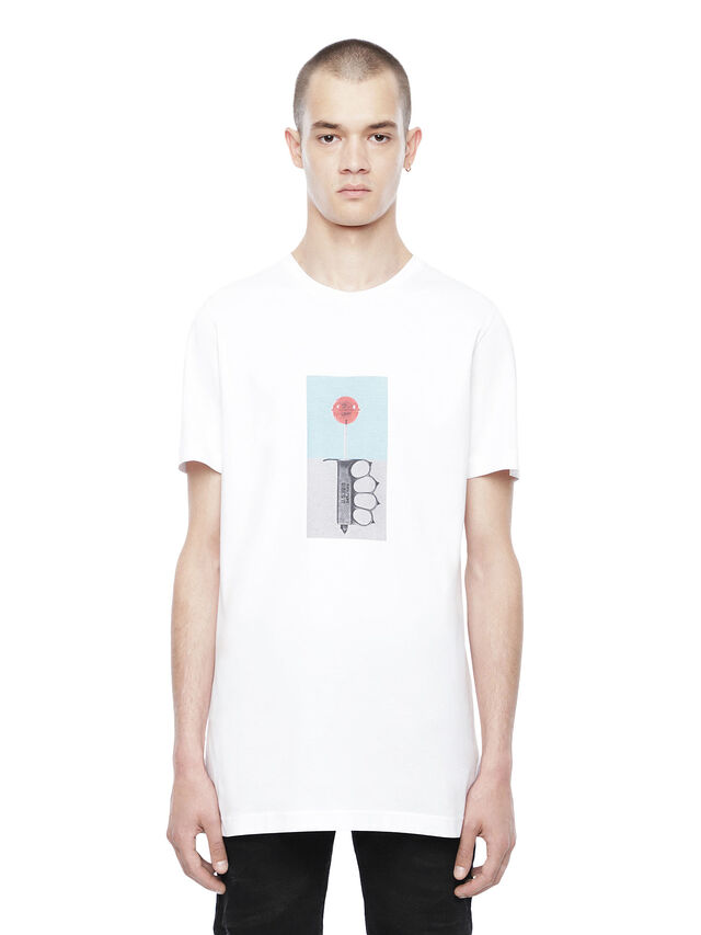 Diesel - TYRONE-LOLLYPOP, White - T-Shirts - Image 1
