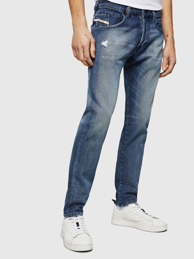 Diesel - D-Bazer 0870H, Medium Blue - Jeans - Image 1